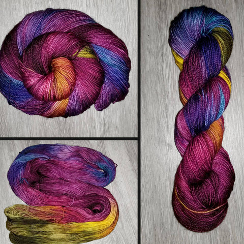 Vintage Cabernet- Hand dyed yarn - Hand painted yarn - SW Merino Fingering Weight  400+ yards - Select your base - red cabernet green blue yellow brown