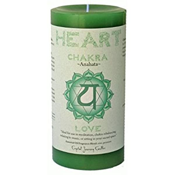 Heart Chakra Scented Pillar Candle | Reiki Infused