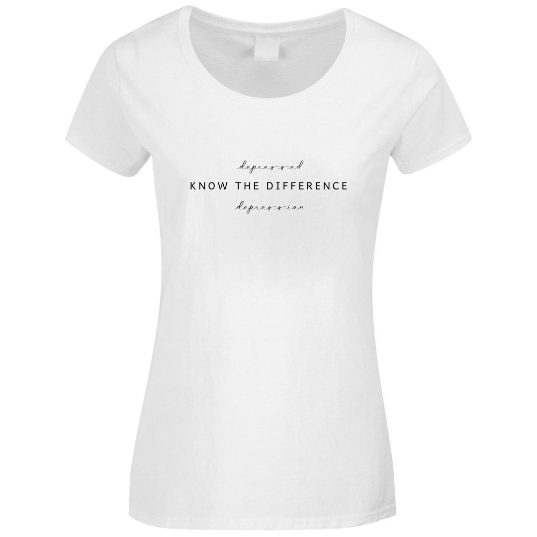 Know The Difference Depression Mental Health T-Shirt