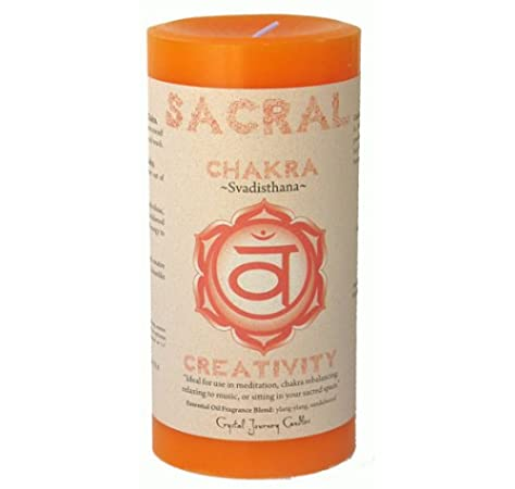 Sacral Chakra Pillar Scented Candle | Reiki Infused