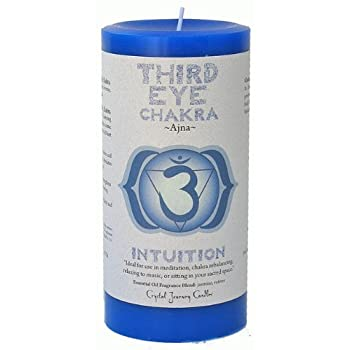 Third Eye Chakra Scented Pillar Candle | Reiki Infused