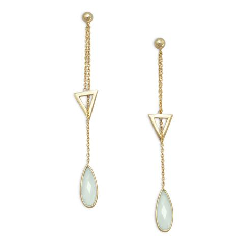 luxury gemstone jewelry, crystal jewelry, healing jewelry, chalcedony jewelry, chalcedony earrings,