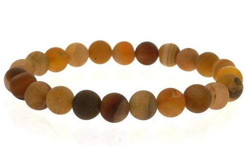 Yellow Agate Healing Stone Bracelet: motivation and decisiveness
