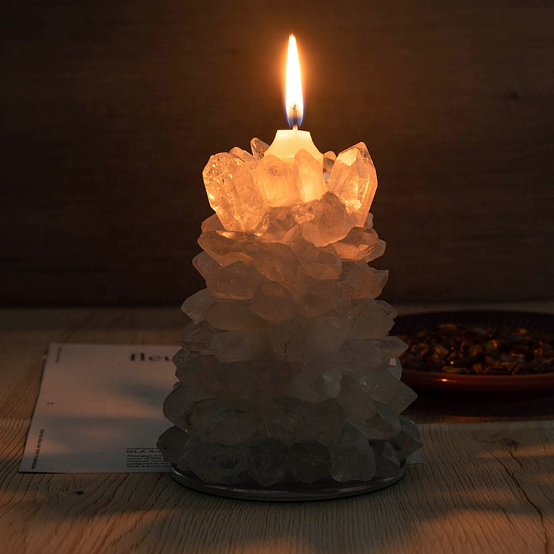 Gemstone Tower Tea Light Candle Holder