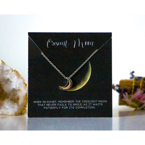 moon necklace, crescent moon meaning, crescent moon necklace, moon necklace,