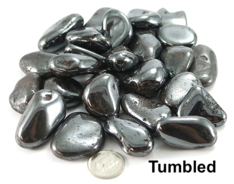 Hematite Tumbled Healing Stone: Remove stress and anxiety from the body