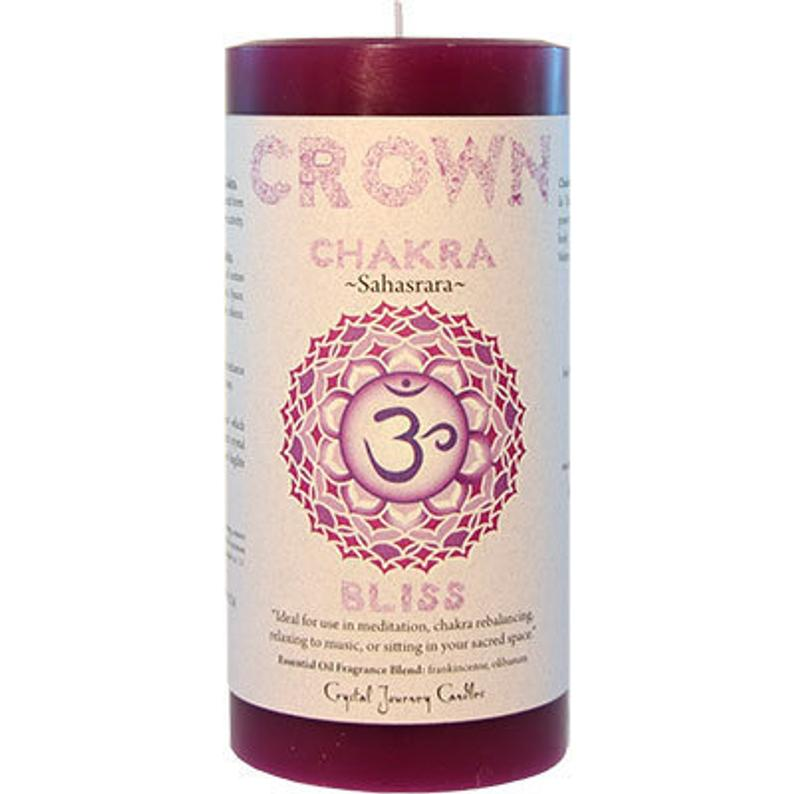 Crown Chakra Pillar Scented Candle | Reiki Infused