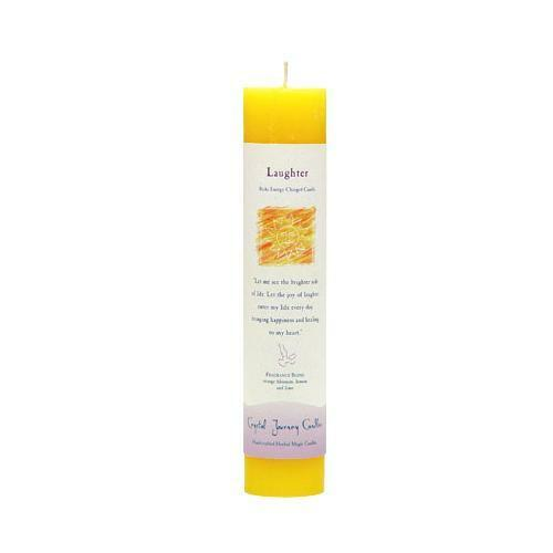 Laughter Pillar Scented Candle | Reiki Infused