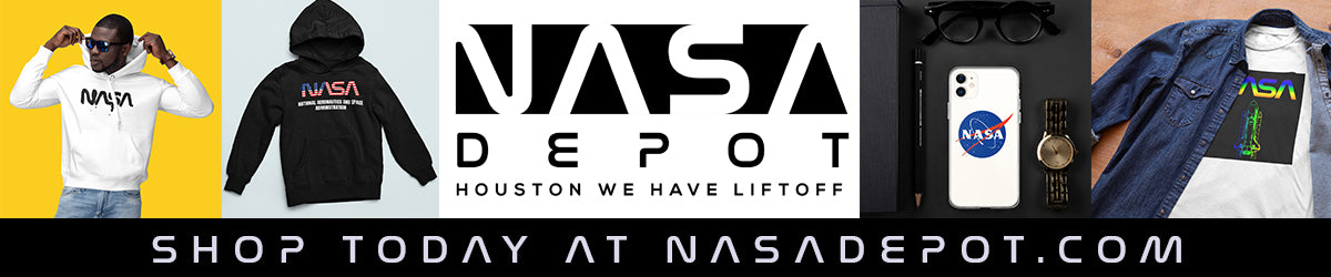 NASA depot banner for NASA merge NASA hoodies NASA T-shirts and NASA accessories