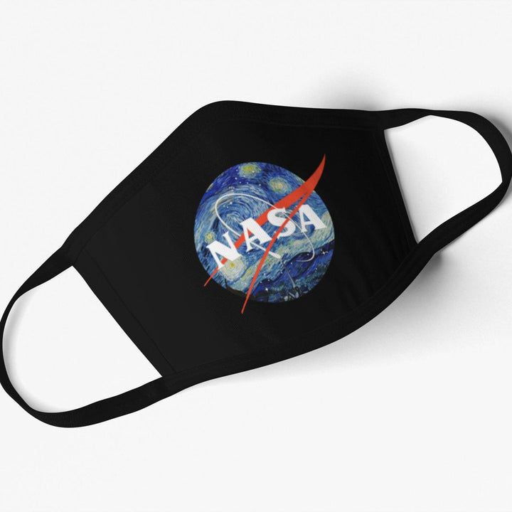 5 Pack Nylon Cotton Masks - Starry Nasa Style Print - From Nasa Depot - The #1 Nasa Store In The Galaxy For NASA Hoodies | Nasa Shirts | Nasa Merch | And Science Gifts