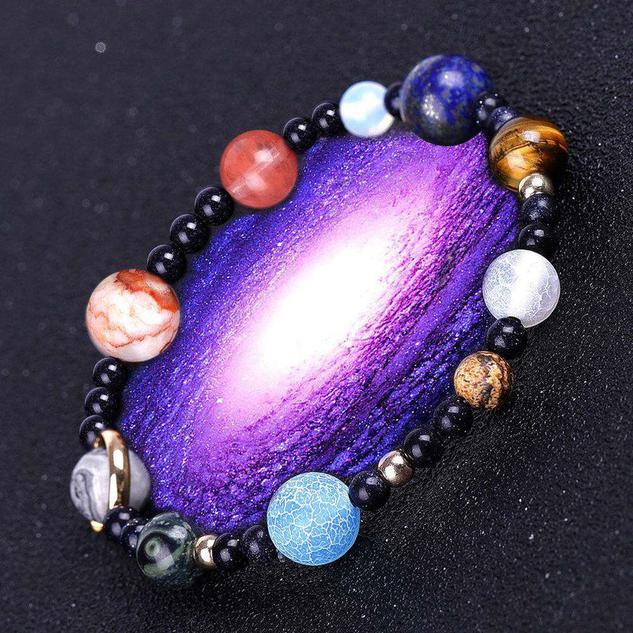 Full Planets of the Galaxy Marble Stretch Bracelet - From Nasa Depot - The #1 Nasa Store In The Galaxy For NASA Hoodies | Nasa Shirts | Nasa Merch | And Science Gifts