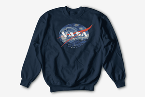 Starry Night Nasa Cotton Blend Sweatshirt - Nasa Depot