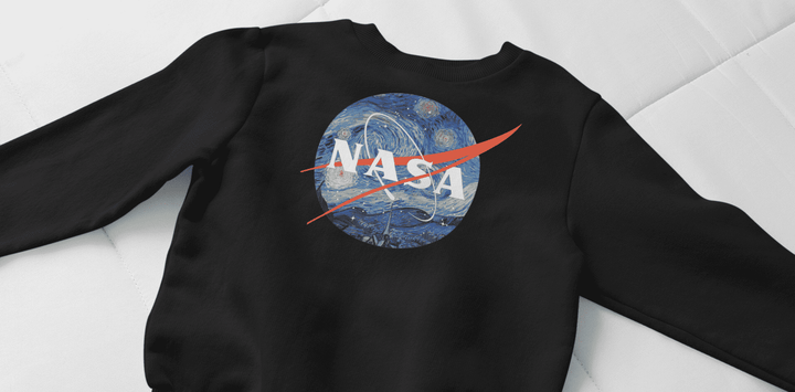 Starry Night Nasa Cotton Blend Sweatshirt - From Nasa Depot - The #1 Nasa Store In The Galaxy For NASA Hoodies | Nasa Shirts | Nasa Merch | And Science Gifts