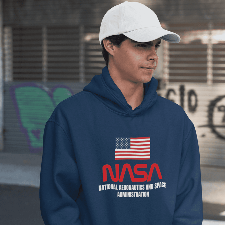Mens American Nasa Shuttle Program Hoodie - Nasa Depot