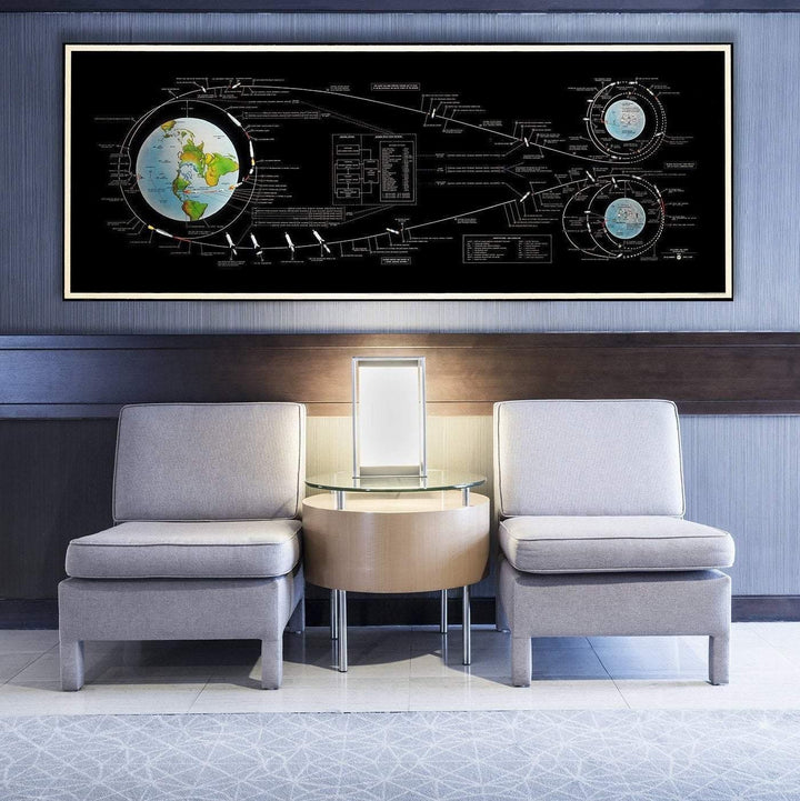 NASA flight plan, Apollo manned lunar landing, Lunar Mission Flight Path, Moon landing, Apollo 11 infographic, Vintage Nasa Art poster, 1969. - From Nasa Depot - The #1 Nasa Store In The Galaxy For NASA Hoodies | Nasa Shirts | Nasa Merch | And Science Gifts