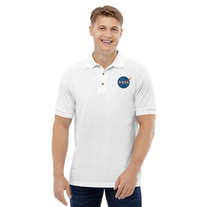 Mens Embroidered Nasa Cotton Polo Shirt - Nasa Depot