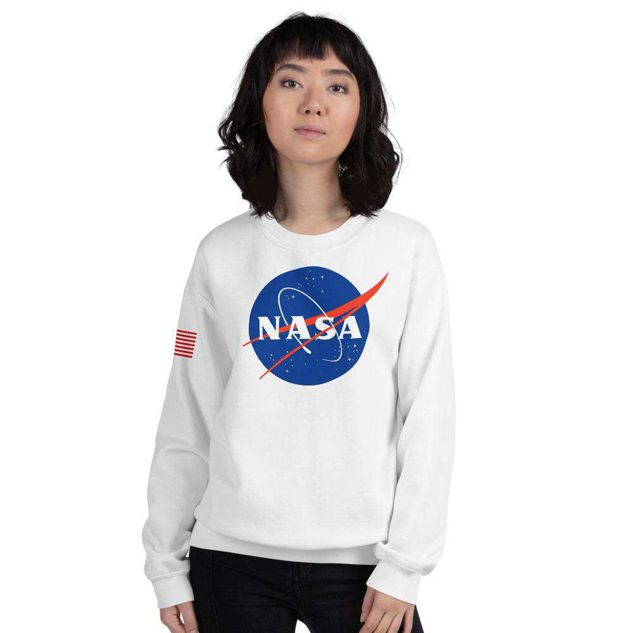 Nasa Depot Women's Nasa Crew Neck Sweatshirt - From Nasa Depot - The #1 Nasa Store In The Galaxy For NASA Hoodies | Nasa Shirts | Nasa Merch | And Science Gifts