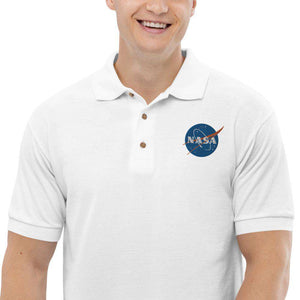 Mens Embroidered Nasa Cotton Polo Shirt - From Nasa Depot - The #1 Nasa Store In The Galaxy For NASA Hoodies | Nasa Shirts | Nasa Merch | And Science Gifts