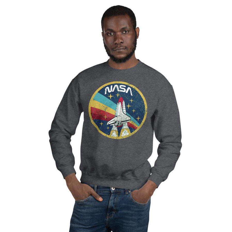 Vintage Nasa Crew Neck Sweatshirt - Nasa Depot