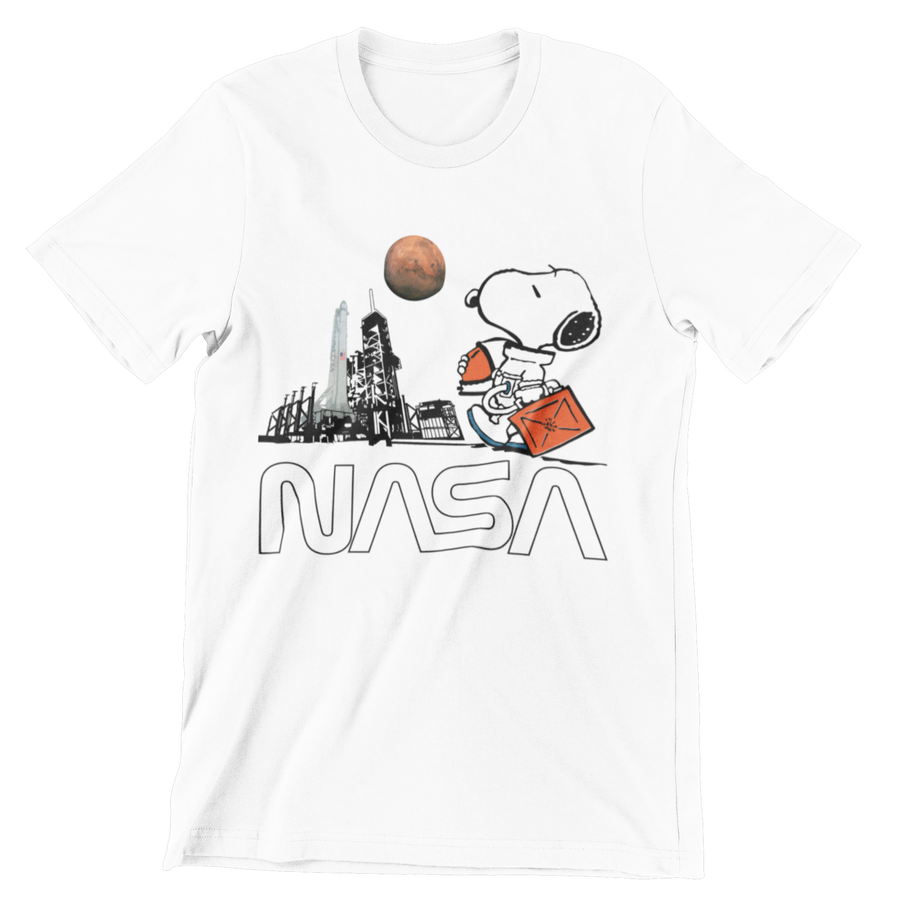 Space Flamingo T-Shirt - Cotton Blend - From Nasa Depot - The #1 Nasa Store In The Galaxy For NASA Hoodies | Nasa Shirts | Nasa Merch | And Science Gifts