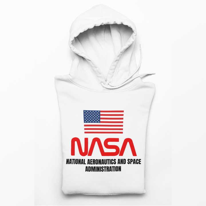 Mens American Nasa Shuttle Program Hoodie - From Nasa Depot - The #1 Nasa Store In The Galaxy For NASA Hoodies | Nasa Shirts | Nasa Merch | And Science Gifts
