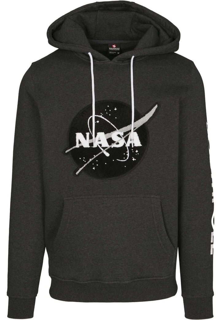 Southpole NASA Insignia Logo Cotton Hoodie - Charcoal - Nasa Depot