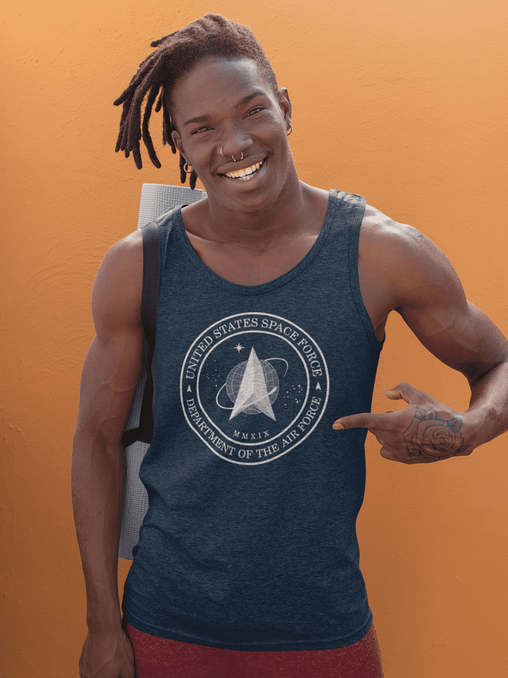 Men's Space Force Cotton Tanktop - From Nasa Depot - The #1 Nasa Store In The Galaxy For NASA Hoodies | Nasa Shirts | Nasa Merch | And Science Gifts