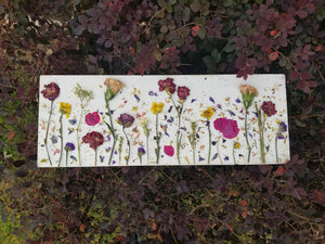"Home Decor- Flower Field Collage- Large 10"" x 20"""
