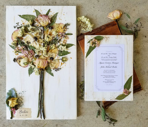 Bridal Bouquet WITH Personalization & Invitation Preservation Set