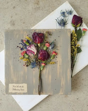 "Funeral Flowers WITH personalization- Medium- 11"" X 11"""