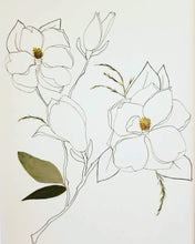 The Sketch Collection- Stem of Magnolia Blooms