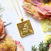 Petal Press Pendant- Large Square