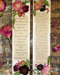 "Wedding Scripture Set- (2) 3.5"" x 15"""