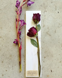 "Funeral Flowers WITH personalization- Medium- 3.5"" x 15"""