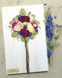 "Funeral Flowers WITH personalization- Large- 11"" x 18"""
