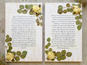 "Vows- 11"" x 18""- Set of 2"