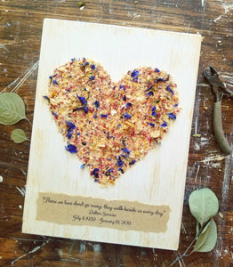 Heart Design with Petal Pieces