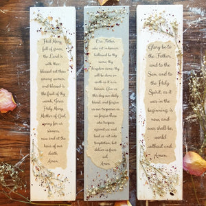"3 Piece Prayer Press Set- 3.5"" x 15"""