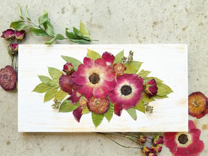"Horizontal Bouquet- 14"" x 7""- Oval Layout"