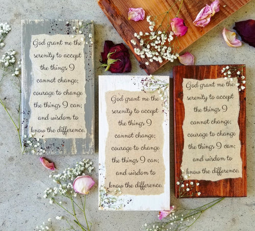Serenity Prayer Press- 5.5