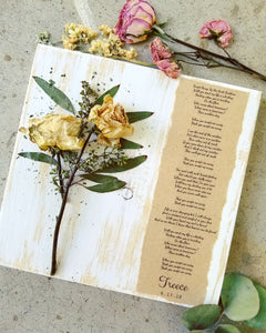 "Medium Bouquet + Wedding Song on 11"" x 11"""