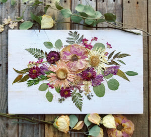 "Horizontal Bouquet- 11"" x 18""- Oval Layout"
