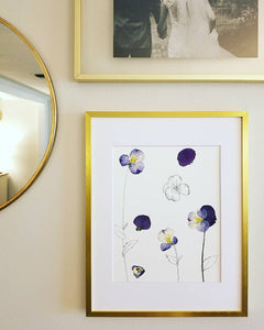 The Sketch Collection- Pansies