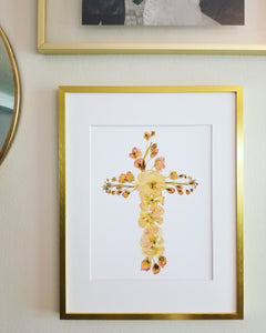 The Sketch Collection- Pink Floral Cross