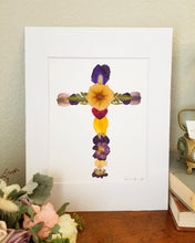 Custom Paper Press- Floral Cross- Choose size
