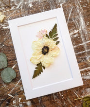Custom Paper Press- Open- Face Flower with Greenery- Choose size