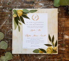 Bridal Bouquet WITH Personalization & Large Invitation Preservation Set