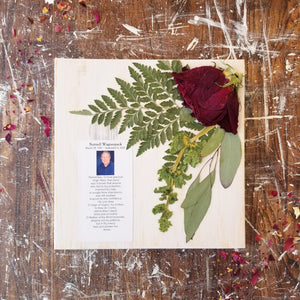 "8"" x 8"" with Obituary Card"