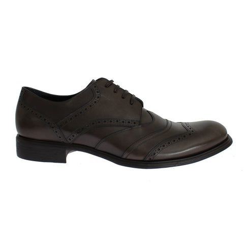Dolce & Gabbana Brown Leather Wingtip Formal Dress Shoes - Riseatop.store