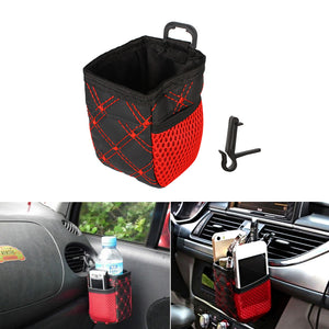 Car Air Vent Mount Net Storage Bag for Mobile Phone Sunglasses Pen Ticket Card Auto Organizer Hanging Bag Holder Accessories - Riseatop.store